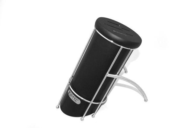 Подставка для хранения ножей черная (каучуковое дерево) 6816