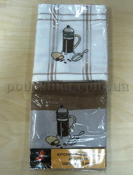 Набор вафельных кухонных полотенец Mariposa Кофеварка 001