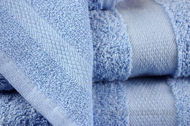Махровое полотенце IzziHome Smiley голубое 30х30 см  Izzihome
