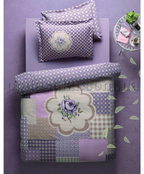 Плед-покрывало Karaca Rosemary фиолетовое 160х220 cм  Karaca home