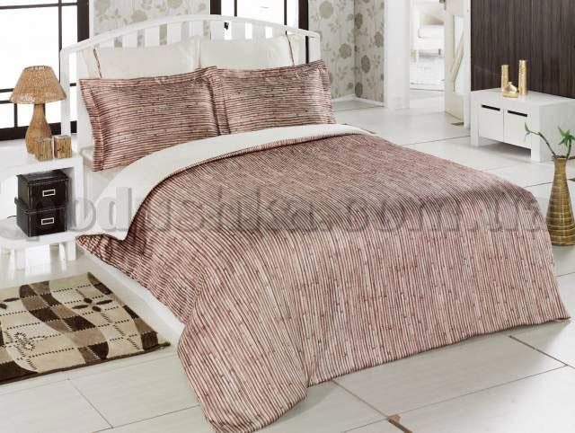 Постельное белье Wood-1 Mariposa шелк-бамбук сатин Двуспальный евро комплект  Mariposa