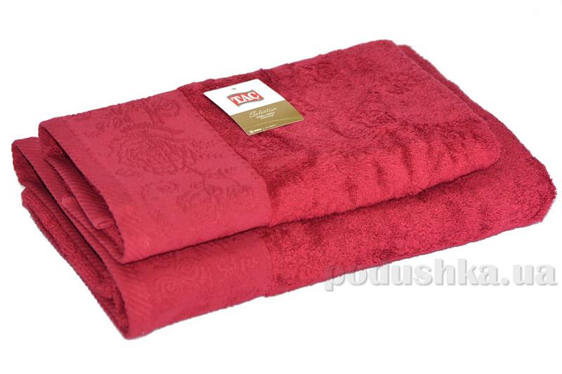 Набор махровых полотенец TAC Merry вишневых
