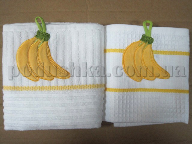 Набор кухонных полотенец Mariposa Бананы (вафельное и махровое)