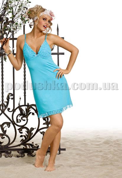 Домашнее платье Вайде 1385 (лазурное)