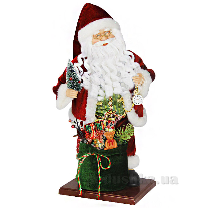 Фигурка Дед Мороз с часиками Angel Gifts F03R-WSIL-PKW-G3A18 ST