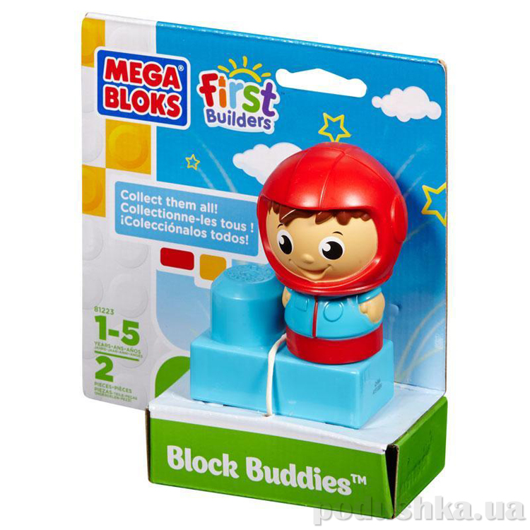 First Builders Набор конструктора с фигуркой Пилот 81223 Mega Bloks