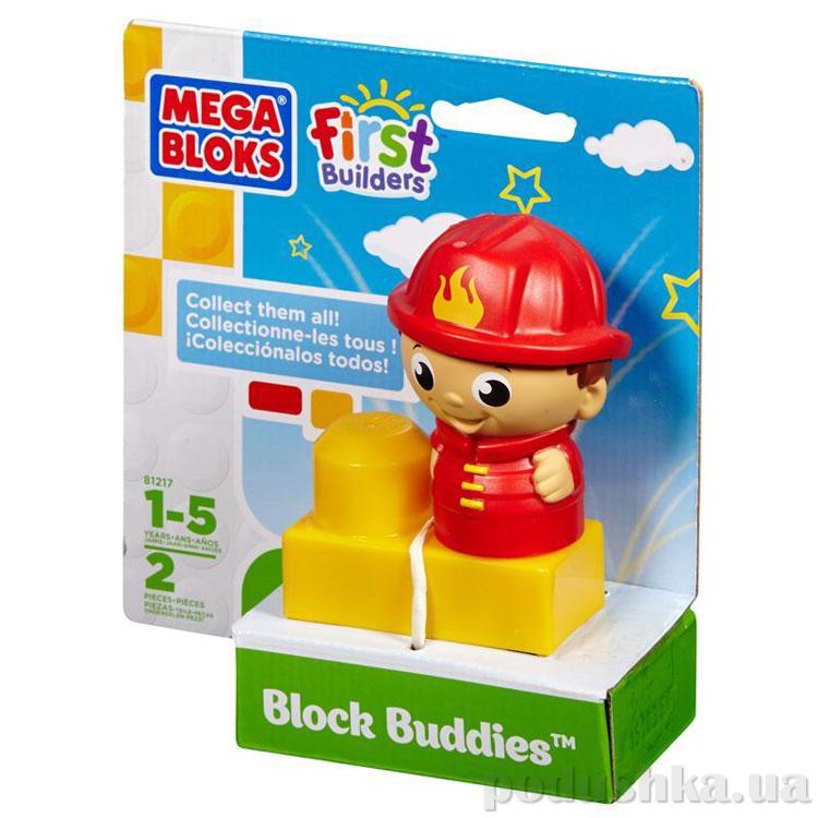 First Builders Набор конструктора с фигуркой Пожарный 81217 Mega Bloks