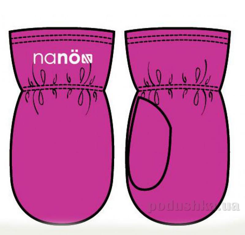 Флисовые варежки для девочки Nano F14 MIT 500 Very Berry
