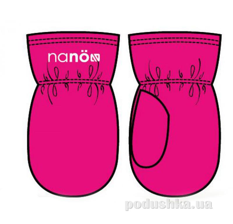Флисовые варежки для девочки Nano F14 MIT 500 Virtual Pink
