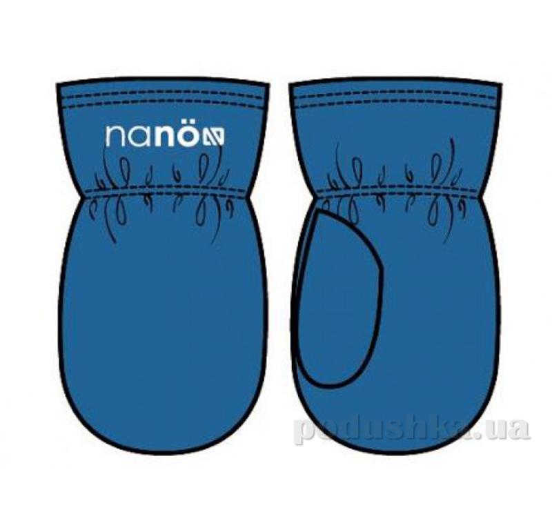 Флисовые варежки для мальчика Nano F14 MIT 501 Blue