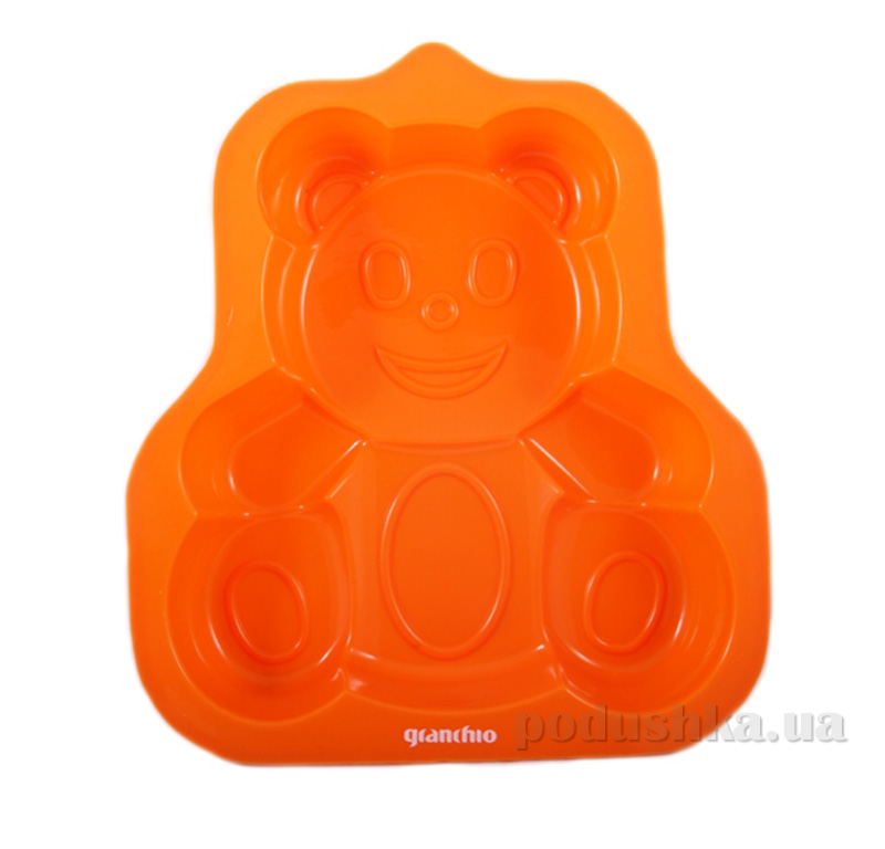 Форма для маффинов силиконовая Granchio 88426 Медвежонок