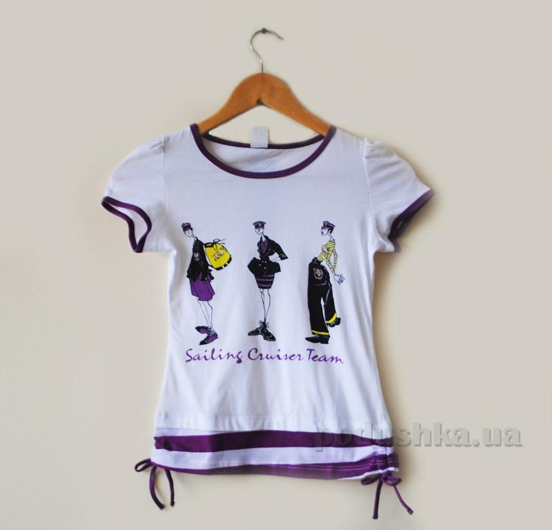Футболка для девочек Senti 130612 фиолетовая 152  Senti