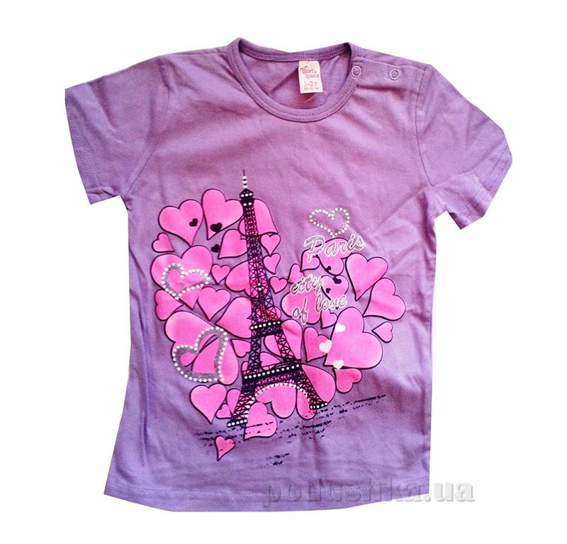 Футболка для девочки Париж Gloria Jeans 69869