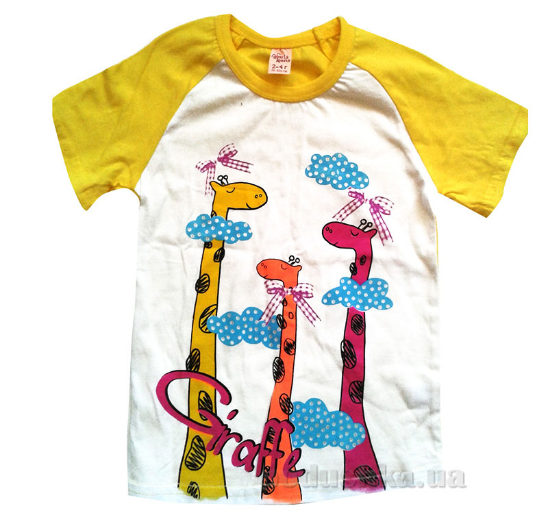 Футболка для девочки Жирафы Gloria Jeans 78576