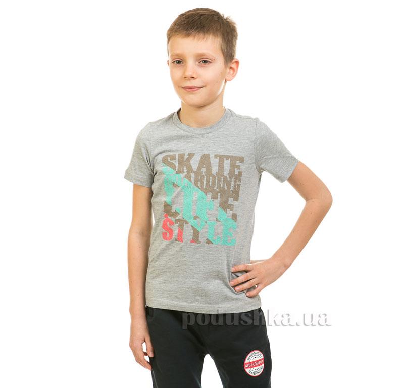 Футболка для мальчика Kids Couture 17-222 серая
