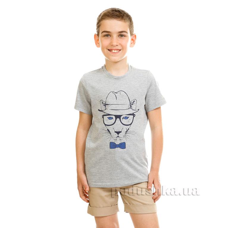 Футболка для мальчика Kids Couture 17-222 светло-серая