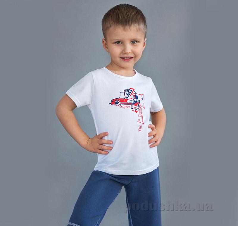 Футболка для мальчика Модный Карапуз 03-00516 белая