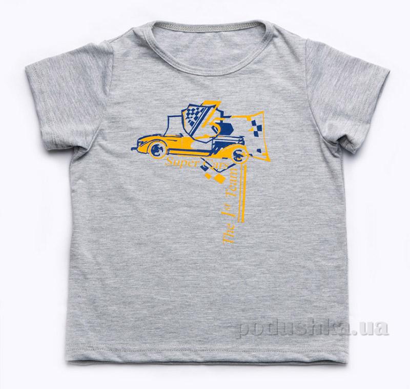 Футболка для мальчика Модный Карапуз 03-00516 серая