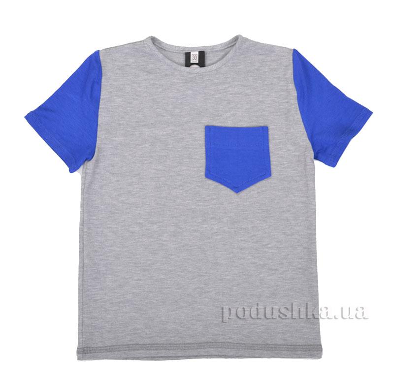 Футболка для мальчиков Bonny Timbo R010225 серая с синим