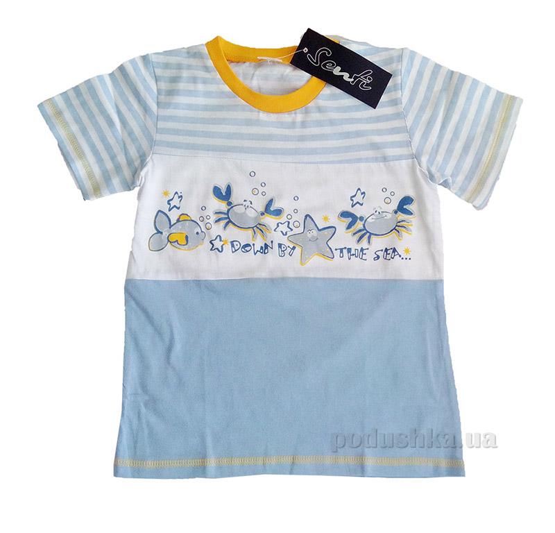 Футболка для мальчиков Senti 080611 голубая