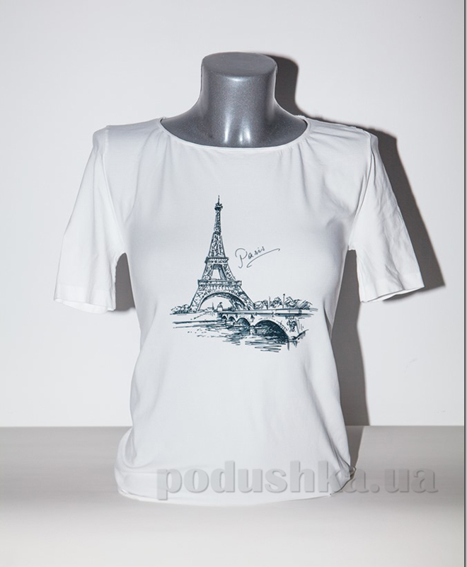 Футболка Giulia Эйфелева башня P0014 белая