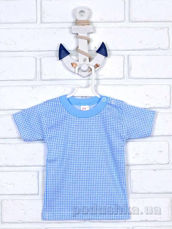 Футболка Татошка 06601 белая в голубую клеточку