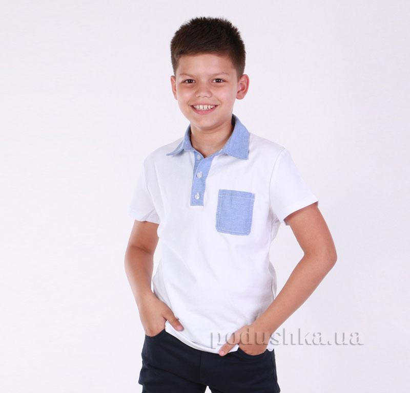 Футболка-поло для мальчика Димакс Р 720 белая