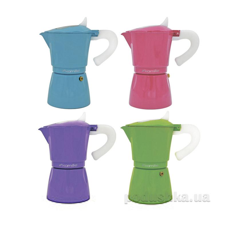 Гейзерная кофеварка Kamille 2507 4 цвета
