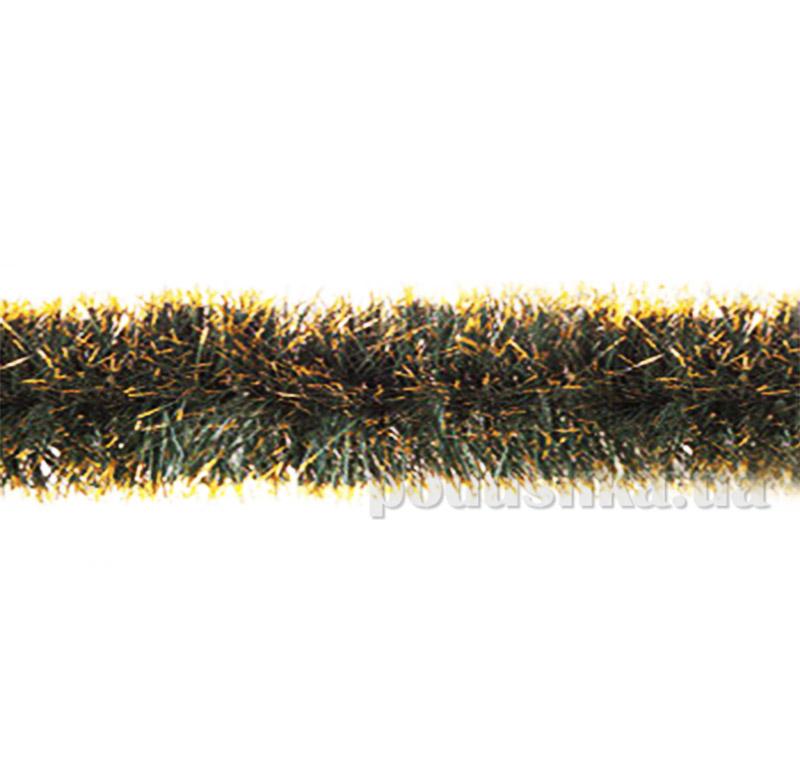 Гирлянда зеленая с золотыми кончиками Новогодько 900832