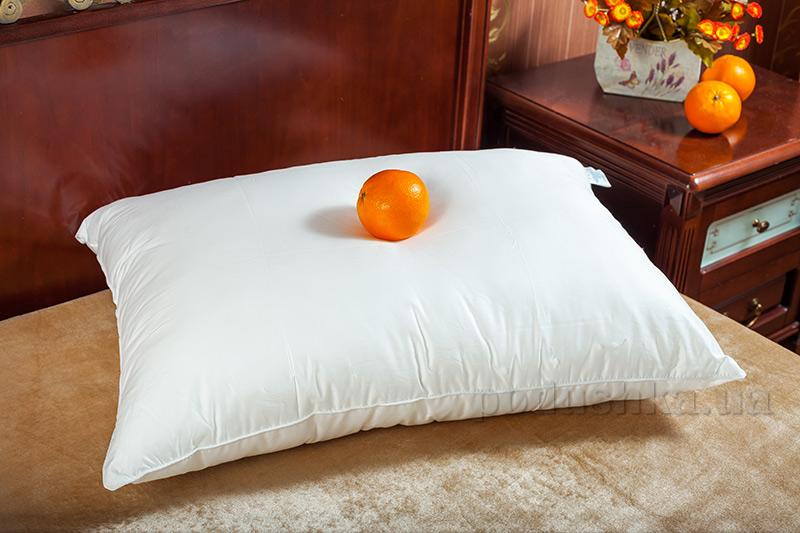 Гладкая подушка Билана Лебяжий пух в чехле без молнии