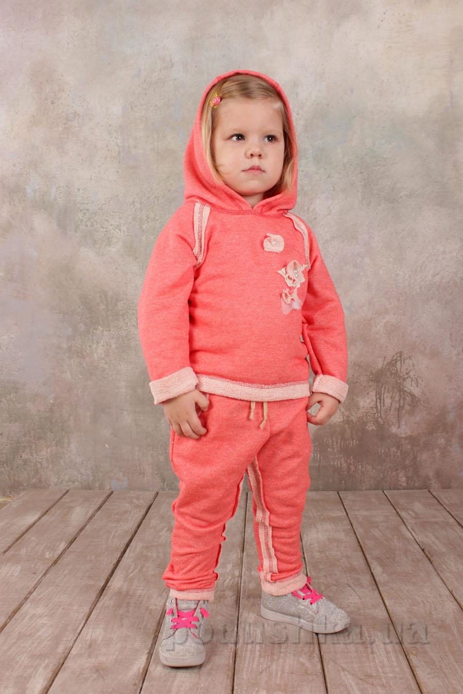 Гламурный спортивный костюм для девочки Модный карапуз 03-00562 Коралл
