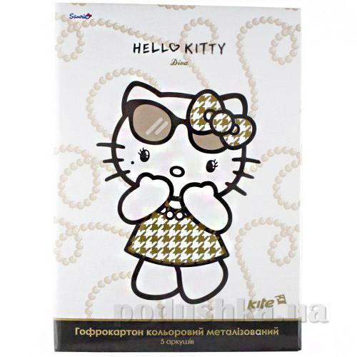 Гофрокартон цветной металлизированный А4 Kite Hello Kitty HK13-258К