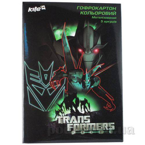 Гофрокартон цветной металлизированный А4 Kite Transformers TF13-258К