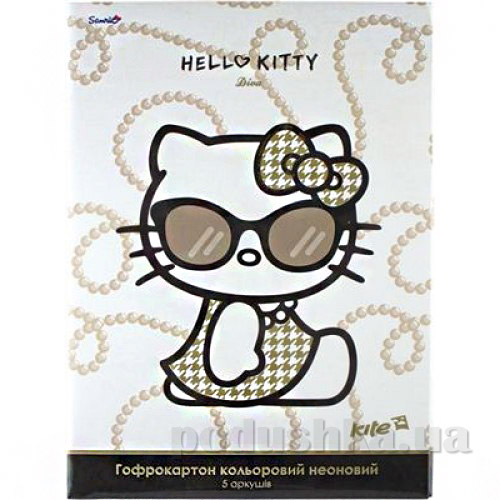 Гофрокартон цветной неоновый А4 Kite Hello Kitty HK13-257К