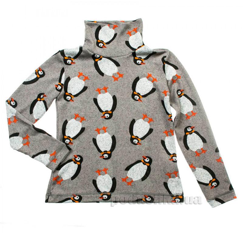 Гольф для девочки Пингвины Kids Couture 16-19 серый