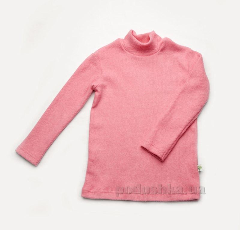 Гольф для девочки утепленный розовый Модный карапуз 03-00625