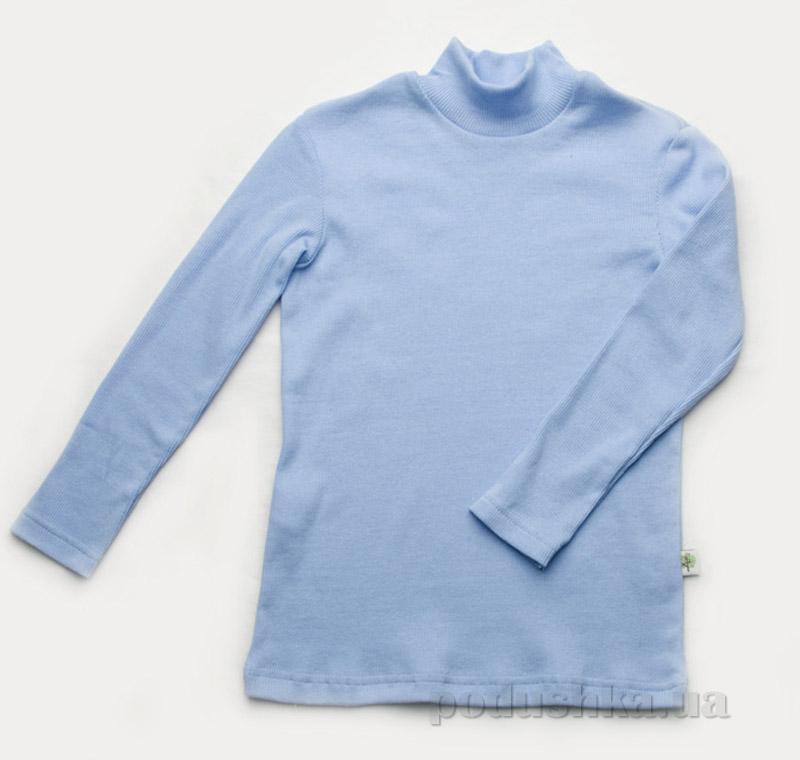 Гольфик для мальчика рубчик Модный Карапуз 03-00615 светло-голубой