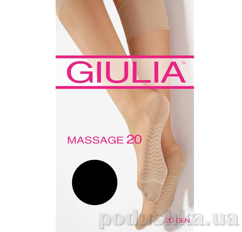 Гольфы черные Massage 20 Den Giulia nero