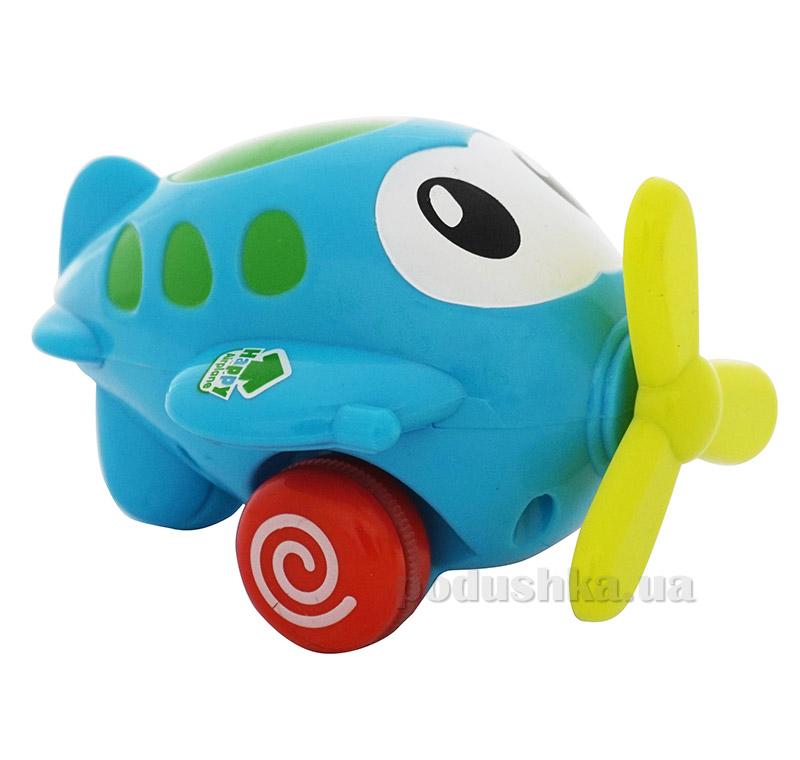 Голубой инерционный самолет Веселый полет BeBeLino 57037-2