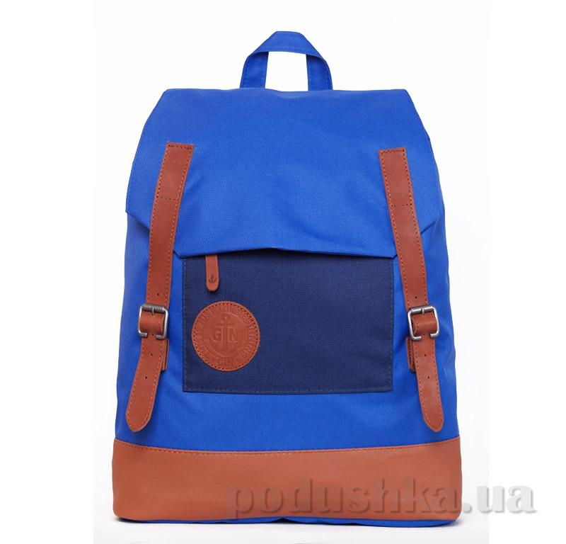 Городской рюкзак Мексиканец Gin электрик с синим карманом