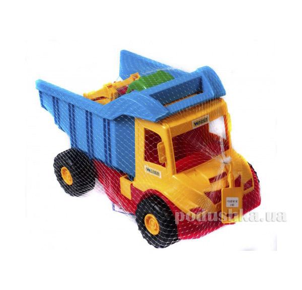 Грузовик с трактором желтый-синий Wader 39219-3   Wader