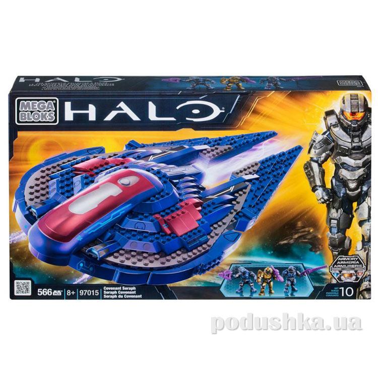 Halo Набор конструктора Летательный аппарат Серафим Ковенанат 97015 Mega Bloks