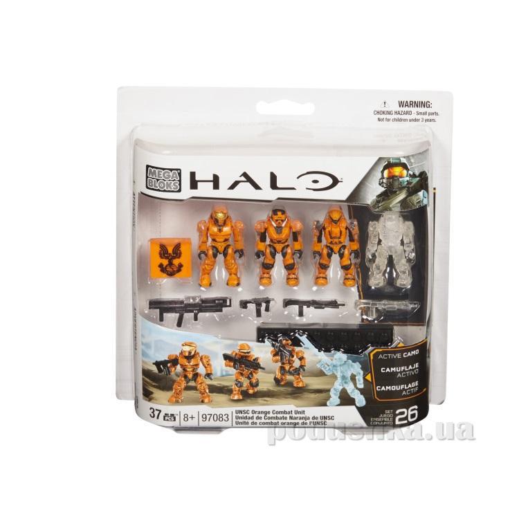 Halo Набор конструктора Оранжевое подразделение UNSC 97083 Mega Bloks