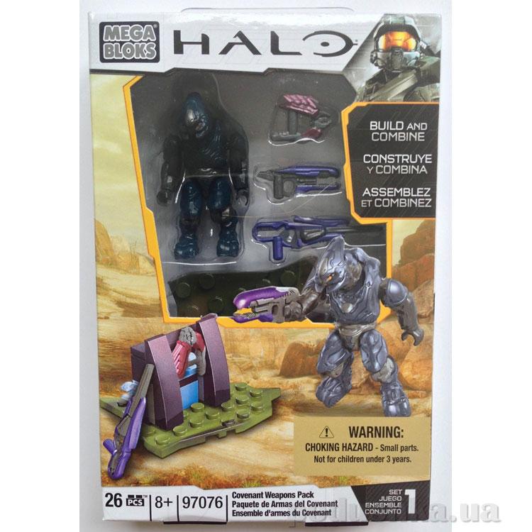 Halo Набор конструктора Солдат Ковенанта с оружием 97076 Mega Bloks