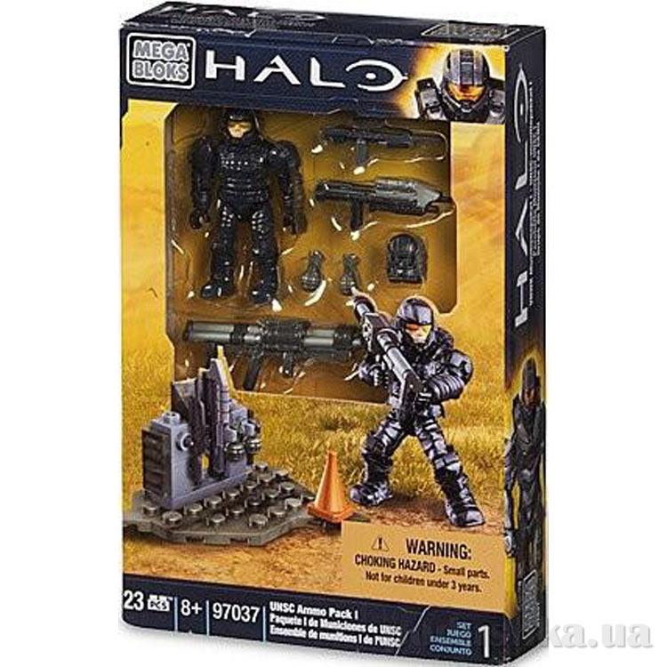 Halo Набор конструктора Солдат UNSC с оружием 97037 Mega Bloks