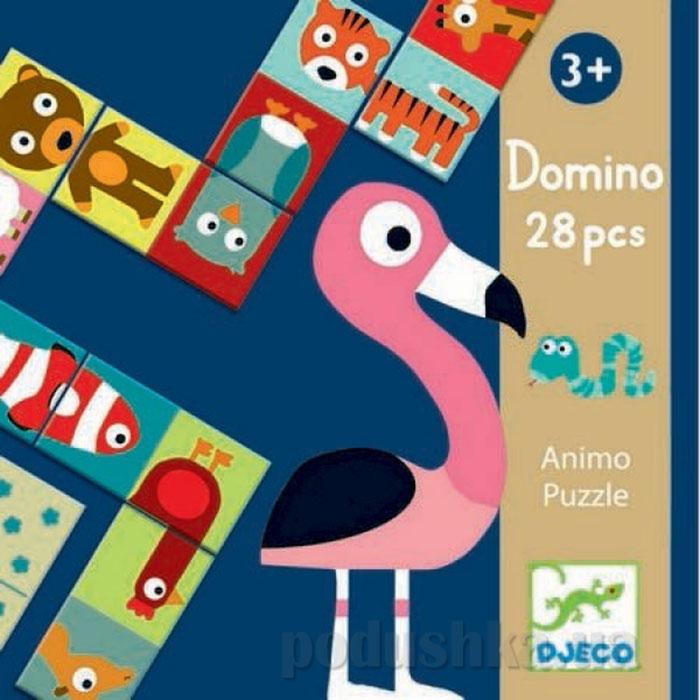 Игра  детское домино Сложи животное DJ08165 DJECO