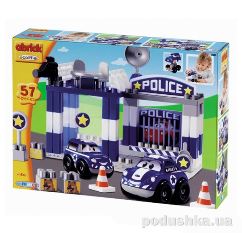 Игровой конструктор Скоростное авто. Полицейский участок Ecoiffier 3081