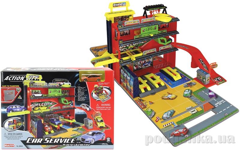 Игровой набор Автомобильная мастерская 3-и уровня с машиной Realtoy