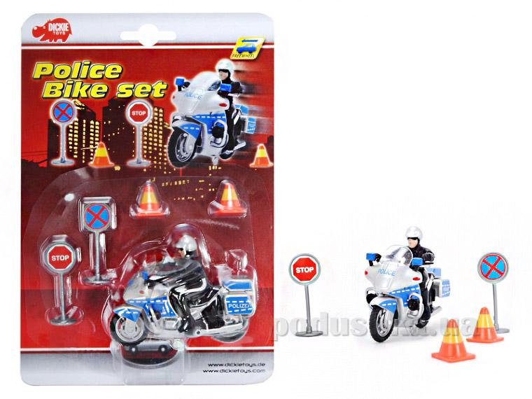 Игровой набор Dickie Полицейский на мотоцикле 3315391