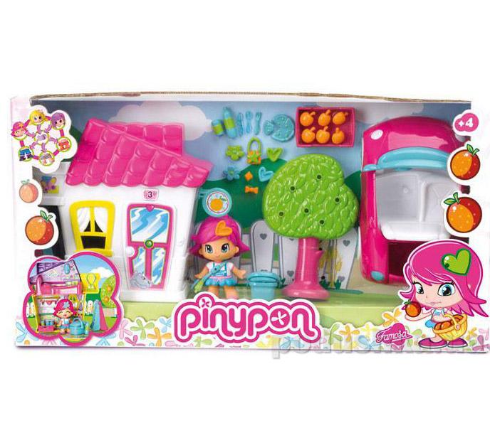 Игровой набор Домик с автомобилем Пинипон 700009524 Pinypon